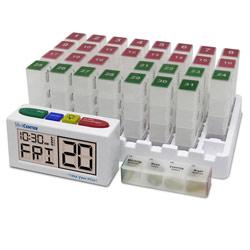Talking Monthly Medication Organizer Alarm-Low Profile