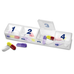 Mini Compact Monthly Pill Organizer