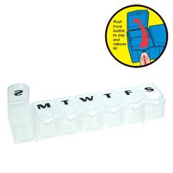 7-Day Push n Pop Pill Reminder