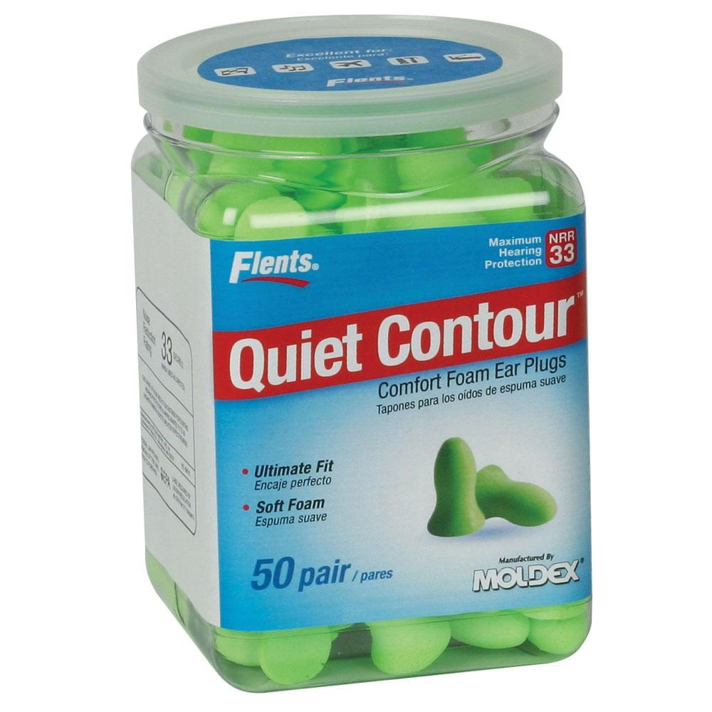 Flents Quiet Contour Comfort Foam Ear Plugs- 50 Pair