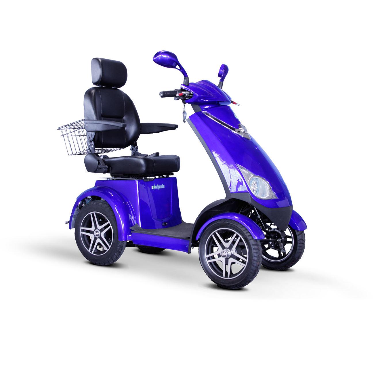 E-Wheels EW-72 4-Wheel Electric Senior Mobility Scooter- Blue