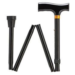 Folding Aluminum Support Cane - 33 inches Price: $19.85