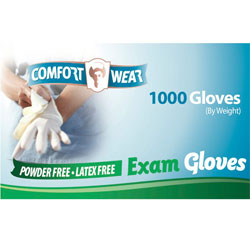 Clear Vinyl Exam Gloves - Large - 1000-cs