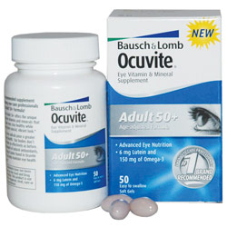 Ocuvite Eye Vitamins- Adult 50-Plus for Macular Degeneration -50-Count - click to view larger image