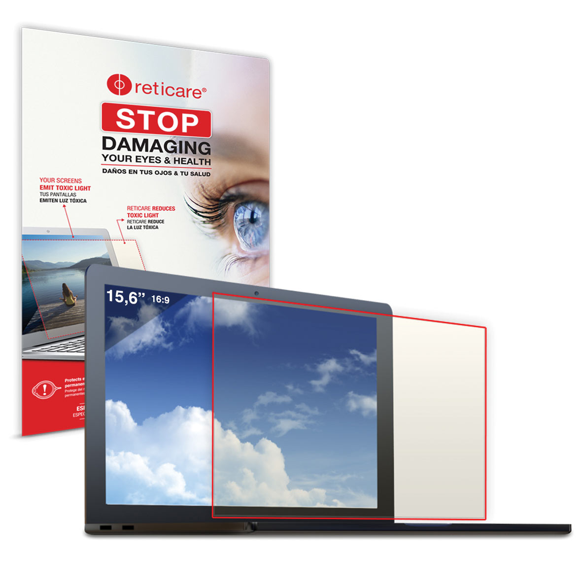 Reticare Laptop 15.6-inch Eye+Screen Blue Light Protector - click to view larger image