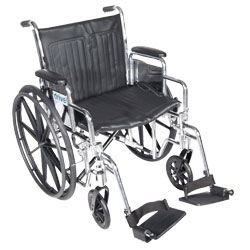 Chrome Sport 18-in Wheelchair-Desk Arms-Legrests - click to view larger image
