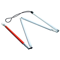 Gripless EZ ID Folding 4-Section Cane - 60 inches Price: $18.95