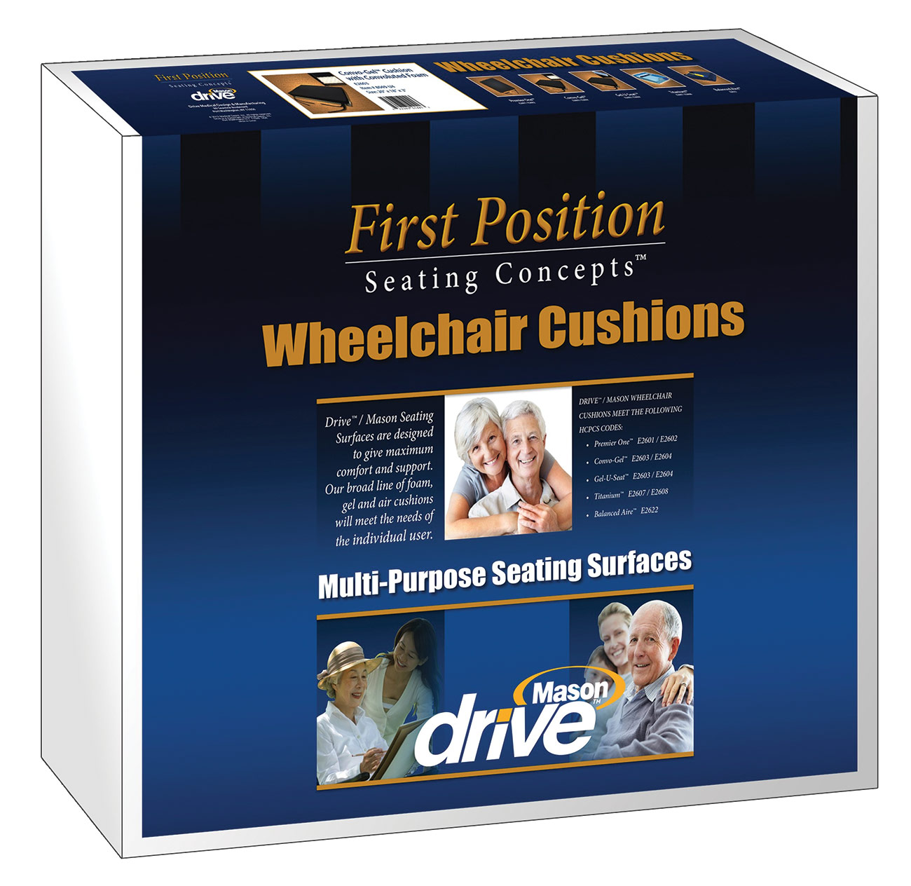 Gel-U-Seat 3 inch Gel Foam Wheelchair Cushion