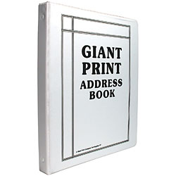 Giant Print Address Book