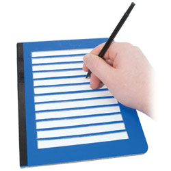 Fold-Over Low Vision Note Writing Frame - click to view larger image