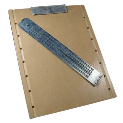 Braille Slate with Clipboard