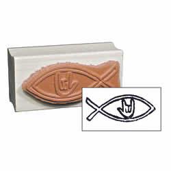 Christian Fish Stamp
