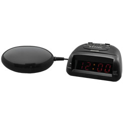 Global 360 Alarm Clock/Timer w/Bed Shaker: Black Price: $45.95