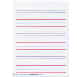 Raised Line Writing Paper - Red and Blue Lines -Package of 50 Price: $12.99