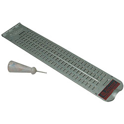 4 lines x 28 cell Metal Slate Price: $11.89