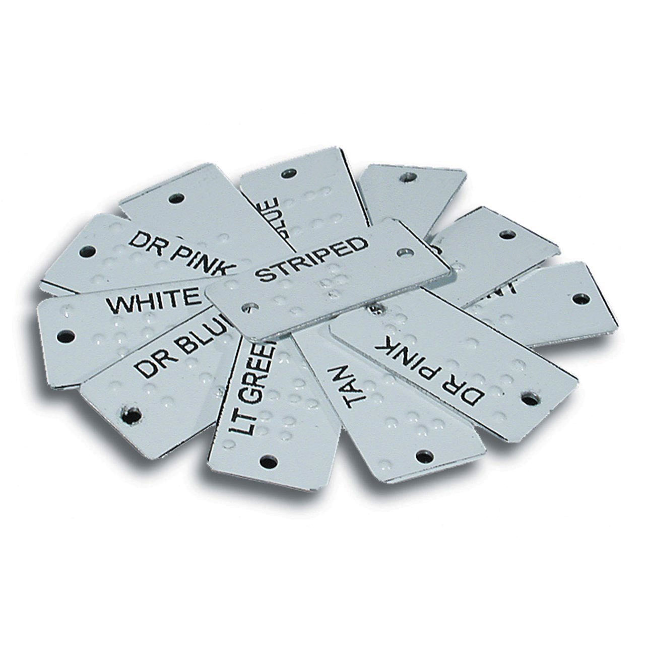 Aluminum Braille Clothing Identifiers Price: $29.75