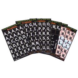 Large Print Scrabble Tile Overlays - White on Black