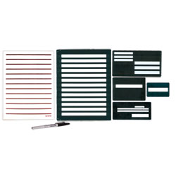 Metal Writing Guide Kit with 20/20 Pen and Low Vision Paper Price: $42.95