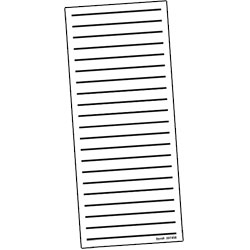 Bold Line Low Vision Shopping List- Pad of 100