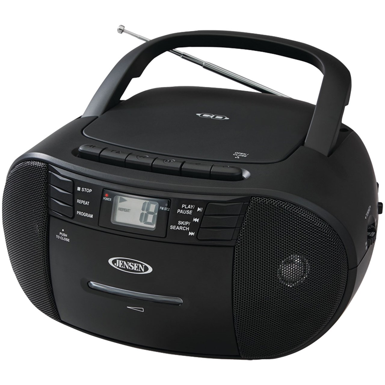 Jensen CD-545 Portable Stereo CD Player - Cassette - AM-FM Radio