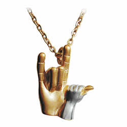 ILY Hands with 18 inch Chain