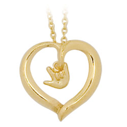 Gold-Plated Open Heart Necklace Price: $13.95