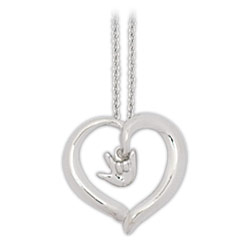 Silver-Plated Open Heart Necklace Price: $13.95