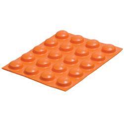 Bump Dots- Large, Orange, Round - 20 pcs.