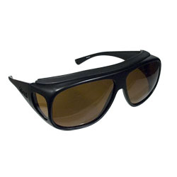 Navigator Large Fit-Over Sunglasses: Black Frames, Amber Lenses Price: $49.95