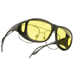 Cocoons Low Vision OveRx Eyewear - Pilot: Black Frame/Lemon Lens Price: $29.95