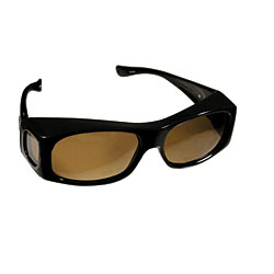 Jett Sunglasses by Fitovers - Brown Marble Frame with Amber Lens Price: $59.95