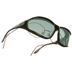 Vistana Polarized Sunwear - Black Frame with Gray Lens- Size Large - click to view larger image