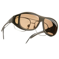 Cocoons Pilot OveRx Sunglasses Size L - Sand Frame - Amber Lens