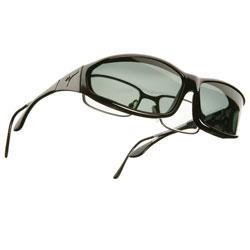 Vistana OveRx Sunglasses Size MS Soft Touch Black Frame - Gray Lenses