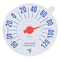 Low-Vision Windowpane Thermometer - click to view larger image