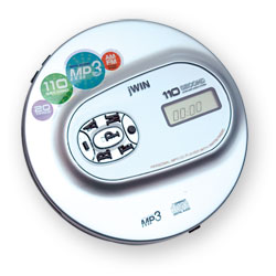 jWIN Portable MP3 CD,Audio CD Tactile Player with AM/FM Radio Price: $99.95
