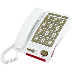 Serene Jumbo Key 55dB Amplified Phone for the Hearing Impaired Price: $125.95