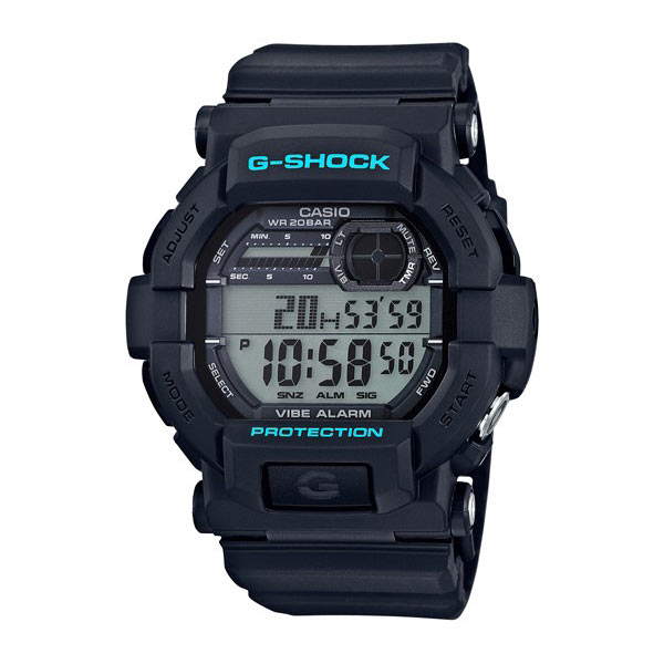 Casio Vibration Watch - Black+Blue - click to view larger image