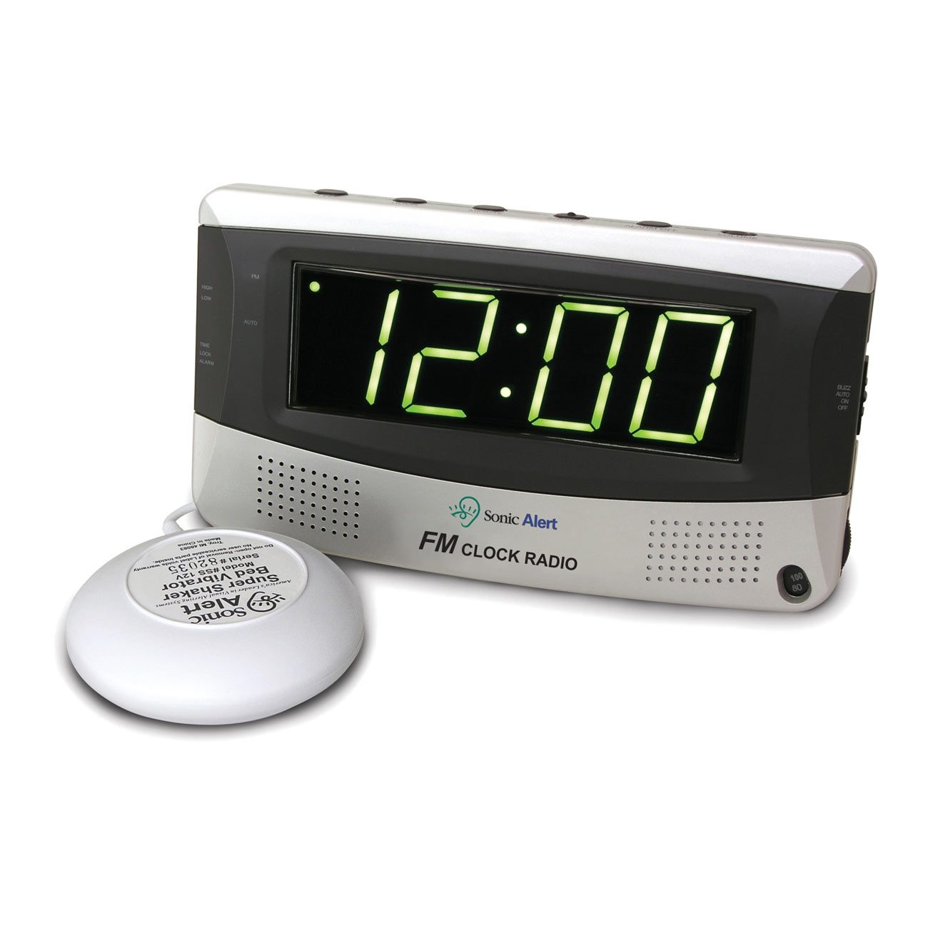 Sonic Alert Alarm Clock and FM Radio with Super Shaker - click to view larger image