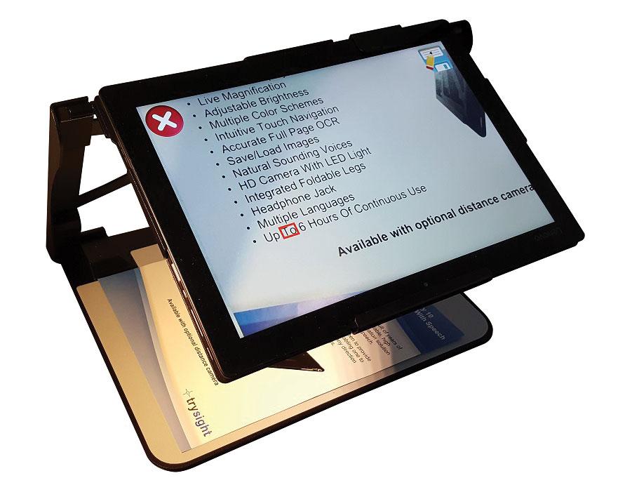 Mercury 12 Laptop Tablet Magnifier with OCR Speech