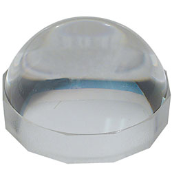 Reizen 65mm Dome Magnifier with Beige Hard Plastic Ring