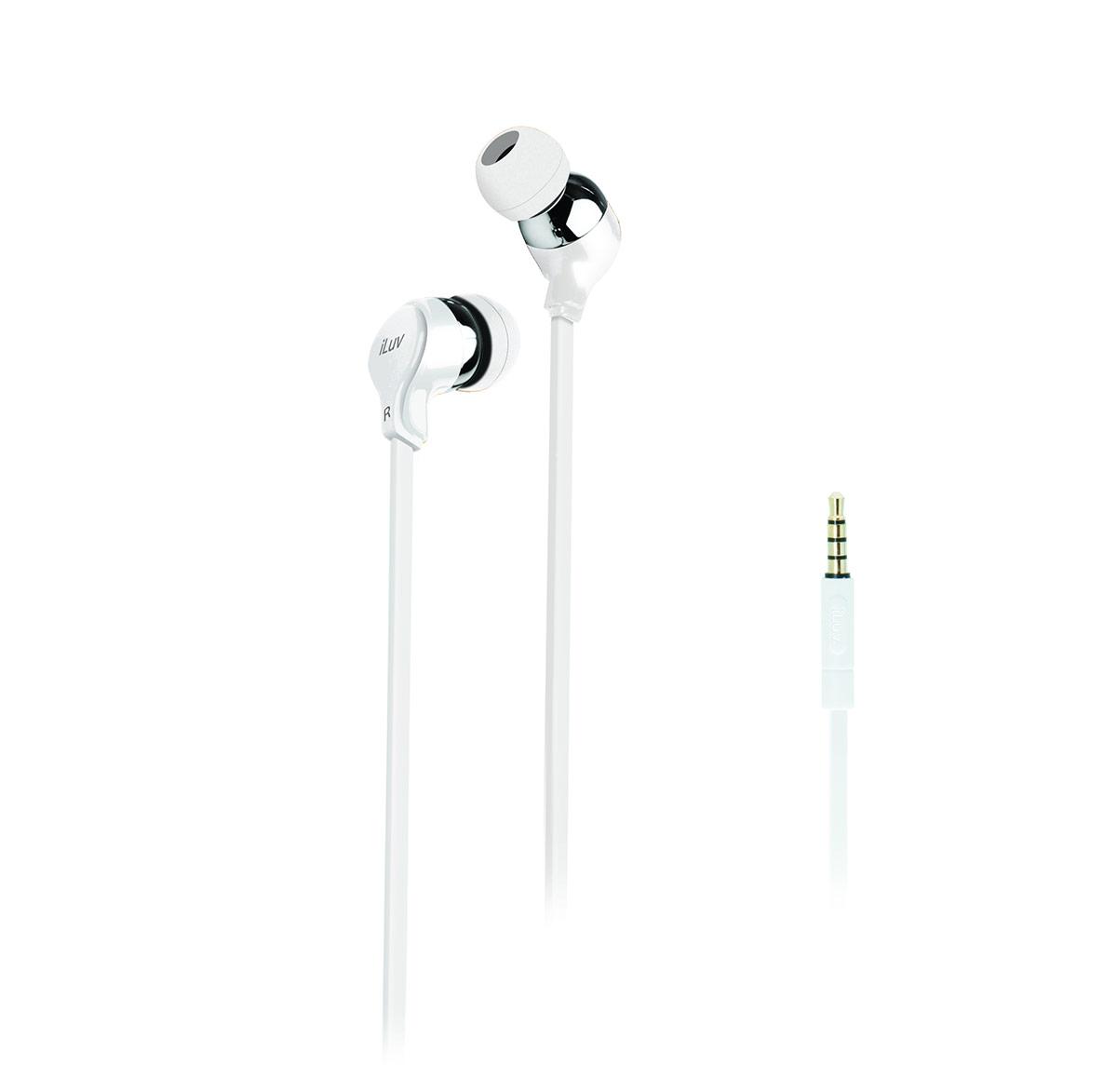 Party On In-Ear Stereo Earphones - White