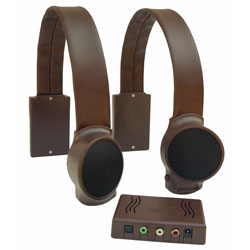 Wireless TV Listening Speakers - Dark Brown Price: $249.95