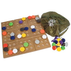 Braille Sudoku Puzzle Game with Board - click to view larger image
