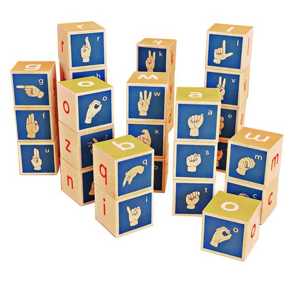 Uncle Goose American Sign Language Alphabet Building Blocks