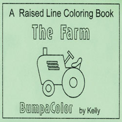 The Farm - Raised Line Coloring Book, Level 1 Price: $14.25