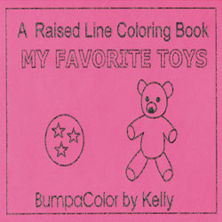 Favourite Toys - Raised Line Coloring Book, Level 1