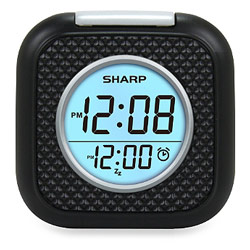 Sharp Vibrating Pillow Alarm Clock - Black Price: $29.95