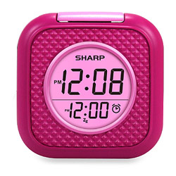 Sharp Vibrating Pillow Alarm Clock - Pink Price: $29.95