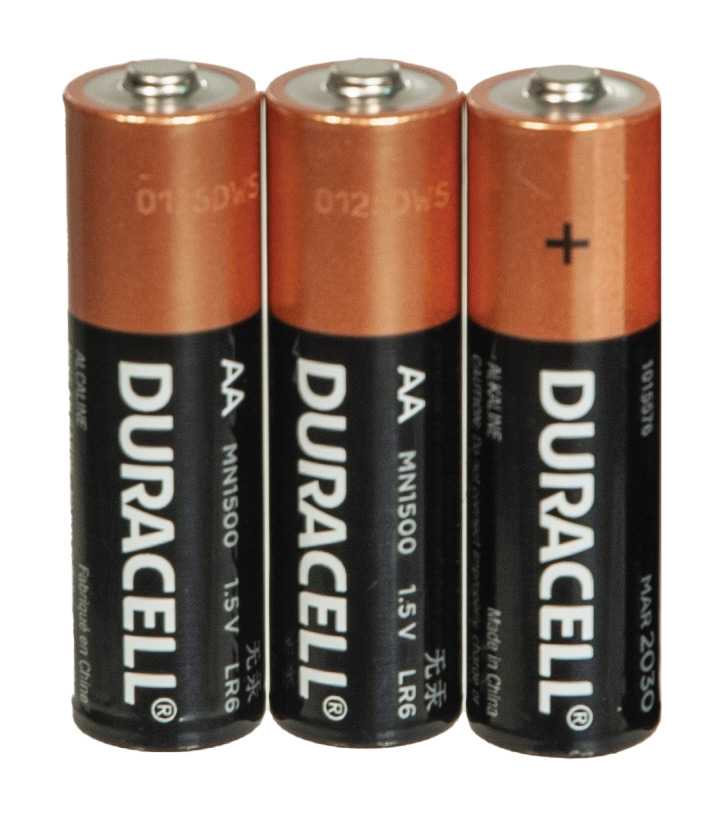 Duracell AA Batteries- Package of 3